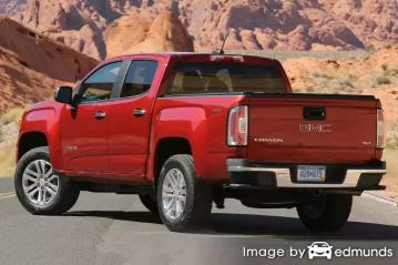Insurance quote for GMC Canyon in Santa Ana